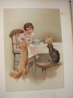 Harriett Mary Bennett - illustrations from the book, All round the clock.