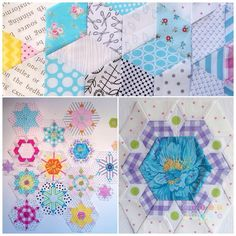 """Some quilts just talk to you at once… and so did this quilt… pattern is by Lucy Carson Kingwell… and the quilt I'm talking about is """"Smitten""""I ordered templ…"""