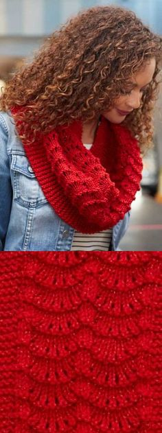Free Lace Knitting Patterns for Beginners Cowl.