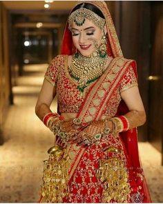 Pakistani bridal outfit by MARIA B Bridal Indian Bridal Wear, Pakistani Bridal, Bridal Lehenga, Red Lehenga, Anarkali, Sabyasachi Lehengas, Wedding Lehanga, Walima, Indian Wedding Jewelry