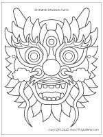 Step 1 Chinese Dragon Mask craft