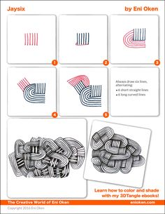 Learn how to shade Zentangle Dibujos Zentangle Art, Zentangle Drawings, Doodles Zentangles, Doodle Drawings, Zen Doodle Patterns, Zentangle Patterns, Mandala Pattern, Art Doodle, Tangle Doodle