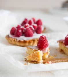 Raspberry frangipane tarts   insimoneskitchen.com
