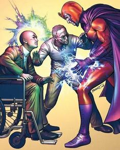 The Father of Marvel (Stan Lee) and his two unruly sons, Professor Xavier and Magneto. Marvel Comic Character, Marvel Comic Books, Comic Book Characters, Comic Book Heroes, Comic Books Art, Comic Art, Book Art, Marvel Comics, Marvel E Dc