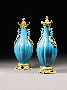 Pair of 18th Century Chinese Vases with 19th Century Mounts | From a unique collection of antique and modern vases at http://www.1stdibs.com/furniture/dining-entertaining/vases/