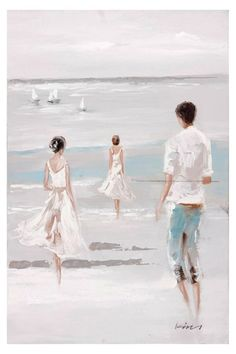 Walk on the Beach 1 Oil Painting