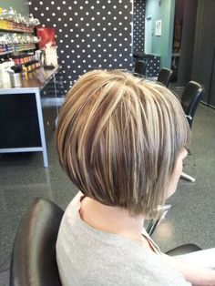 Highlights to Cover Gray Hair | We wanted to illuminate this client's hair. We highlighted a ...