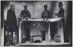John Heartfield Stage Set Projection for Bertolt Brecht, 1951 Episches Theater, Epic Theatre, Theatre Stage, Samuel Beckett, Set Design Theatre, Stage Design, Berliner Ensemble, John Heartfield, Evil Clowns