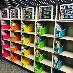 Classroom Mailboxes (Learning In Wonderland) First Grade Classroom, New Classroom, Classroom Design, Classroom Themes, Kindergarten Classroom Organization, Classroom Organisation, Teacher Organization, Classroom Storage Ideas, Classroom Decoration Ideas