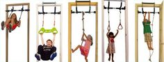 Amazon.com: Gorilla Gym Indoor Playground with Indoor Swing, Plastic Rings, Trapeze Bar, Climbing Ladder, and Swinging Rope: Toys & Games