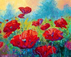 Field Of Red Poppies Painting by Marion Rose - Field Of Red Poppies Fine Art Prints and Posters for Sale