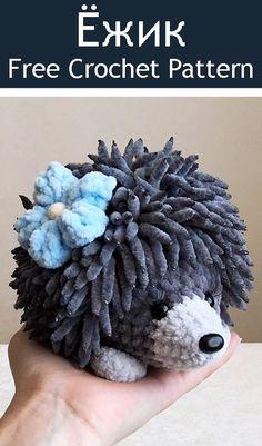 PDF Ёжик. FREE amigurumi crochet pattern. Бесплатный мастер-... - AmiMore - #ALLES Chat Crochet, Kawaii Crochet, Crochet Amigurumi, Crochet Motifs, Crochet Doll Pattern, Crochet Toys Patterns, Amigurumi Patterns, Diy Crochet, Crochet Crafts