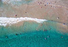 Arial Beach Shot   Kauai Boogie Borders