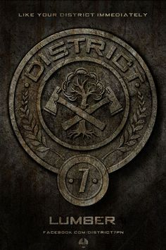 """""""District 7 provides lumber for the Capitol, and the tributes of District 7 are known to be good with axes."""" - The Hunger Games trilogy Hunger Games Wiki, Hunger Games Movies, Hunger Games Catching Fire, Hunger Games Trilogy, Johanna Hunger Games, Districts Of Panem, Hunger Games Districts, Johanna Mason, Katniss Everdeen"""