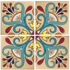 Art nouveau stencil beautiful Ideas for 2019 Art Nouveau Tiles, Art Deco, Mexican Ceramics, Border Tiles, Spanish Tile, Tile Patterns, Mosaic Tiles, Ceramic Tile Art, Bunt