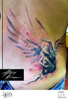 Water Color Tattoo (401) Adam Kremer - Fallen Angel