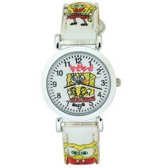 SpongeBob Figure TimerMall Kid Children Cartoon Quartz Wrist Watch Leather Strap Boys Girls Fashion *** Click on the image for additional details.