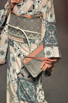 collectorandco:jotaro saito / sansai saito / MBFW / tokyo / S/S / 2015 Yukata Kimono, Kimono Fabric, Kimono Dress, Traditional Japanese Kimono, Traditional Dresses, Ethnic Fashion, Kimono Fashion, Modern Kimono, Kimono Design