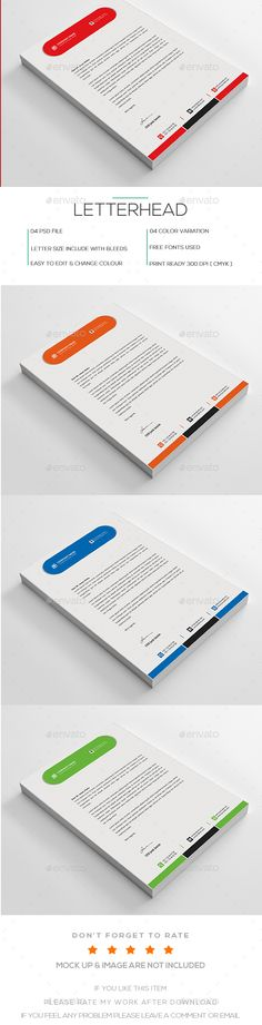 Business Letterhead Logos, Cleanses and Stationery - psd letterhead template