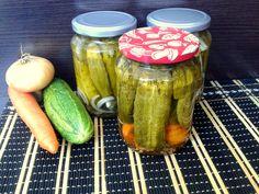 Reteta culinara Castraveti in otet pentru iarna din categoria Muraturi. Cum sa faci Castraveti in otet pentru iarna Pickles, Cucumber, Food, Canning, Meal, Essen, Pickle, Hoods, Meals