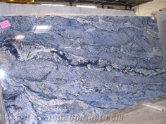 Bhandari Marble World Blue Bahia . We are the Oldest & Largest Manufacturer of Best Indian and Precious Italian marble, Indian & Imported granite. Blue Kitchen Countertops, Stone Countertops, Stone Slab, Stone Tiles, Decorative Tile Backsplash, Backsplash Ideas, Italian Marble Flooring, Marbles Images, Marble Price