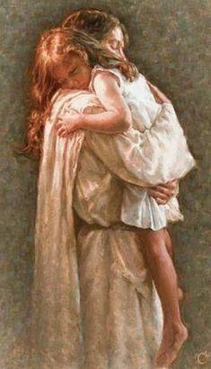 In His Arms Jesus Christ. Jesus Loves you. Children and Jesus. Jesus Art, God Jesus, Psalm 17, Braut Christi, Image Jesus, Pictures Of Christ, Lds Art, Jesus Christus, Prophetic Art