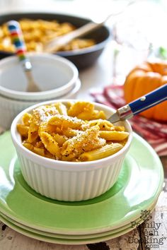 Pumpkin Mac 'n Cheese Recipe on FamilyFreshCooking.com