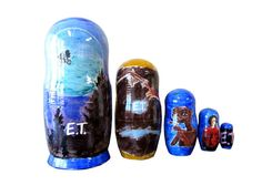 Matryoshka E.T. The Extra-Terrestrial. 5 Piece Nesting Doll