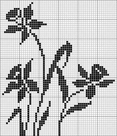 Crochet Vietnam dress of daffodil flower - Craft Ideas Embroidery Sampler, Cross Stitch Embroidery, Cross Stitch Samplers, Cross Stitching, Knitting Charts, Knitting Patterns, Cross Stitch Designs, Cross Stitch Patterns, Applique Patterns