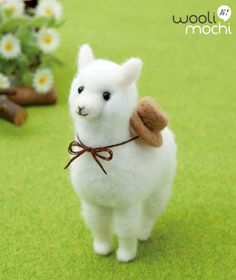 Alpaca with Hat Needle Felting Kit by WooliMochi on Etsy - This has to be one of the cutest things ever made!