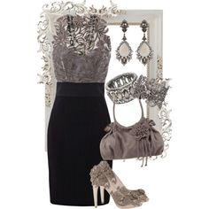 """Taupe and Black"" by jlg8503 on Polyvore"