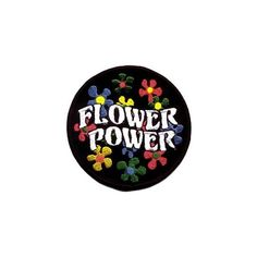 Cool-Patches Flower Power Daisy Hippie Embroidered Iron On Patch ($2.50) ❤ liked on Polyvore featuring accessories, fillers, patches, other and pins