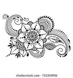 Portfolio d'images et de photos de stock de Katika   Shutterstock Dotwork Tattoo Mandala, Tatoo Henna, Henna Art, Henna Mehndi, Henna Patterns, Zentangle Patterns, Zentangles, Flower Patterns, Simple Mehndi Designs