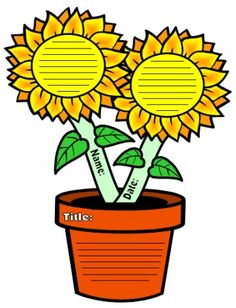 Sunflower Creative Writing Templates and Worksheets