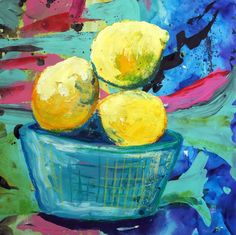 Buy Three Lemons, Mixed-media painting by Julia Rigby on Artfinder. Lemon Art, Mixed Media Painting, New Words, Impressionist, Third, March, Pastel, Oil, Seasons