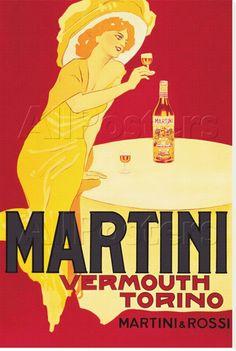 Vermouth Cora 1933 Torino Italy Vintage Poster Print Retro Style Bar Liquor Art