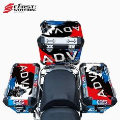 3 x Pannier Boxes Storm R1250 750 850 R1200GS ADV Protector Cover Stic – sooydoor Gs 1200 Adventure, Decal, Sticker, Perfect Fit, Boxes, Crates, Stickers, Box, Cases