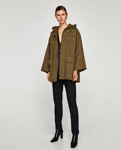 OVERSIZED PARKA WITH FAUX PEARLS-OUTERWEAR-WOMAN | ZARA United Kingdom