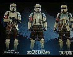 Star Wars - Rouge One Scarif Shoretrooper , Squad Leader & Captain