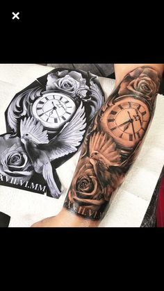 63 New Ideas Tattoo Sleeve Clock Beautiful - 63 New Ideas Tattoo Sleeve Clock . - 63 New Ideas Tattoo Sleeve Clock Beautiful – 63 New Ideas Tattoo Sleeve Clock Beautiful - Dove Tattoos, Forarm Tattoos, Forearm Sleeve Tattoos, Best Sleeve Tattoos, Tattoo Sleeve Designs, Tattoo Designs Men, Leg Tattoos, Body Art Tattoos, Clock Tattoo Sleeve