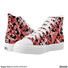 Angry Cats Printed Shoes