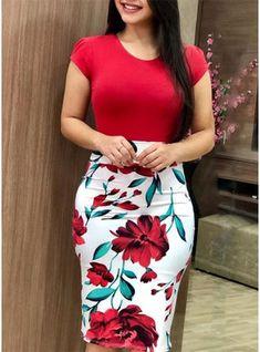 Floratta Modas - Moda Evangélica - A Loja da Mulher Virtuosa Pencil Skirt Outfits, Dress Outfits, Fashion Outfits, Pencil Skirts, Pencil Dress, Fashion Kids, Fashion Fashion, Trendy Fashion, Casual Summer Dresses