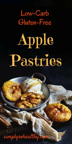 This low-carb apple pastries recipe makes delicious treats that are everything mini apple pies should be. It's hard to believe they work fo. Ketogenic Recipes, Diabetic Recipes, Low Carb Recipes, Diabetic Desserts, Ketogenic Diet, Free Recipes, Lchf, Banting, Low Carb Sweets