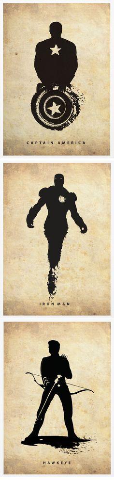 The Avengers Superheroes Iron Man Hawkeye Black by Posterinspired