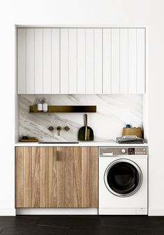 """Excellent """"laundry room storage diy small"""" detail is available on our internet site. Check it out and you wont be sorry you did. Small Laundry Rooms, Laundry Room Organization, Laundry Closet, Compact Laundry, Laundry Nook, Laundry Tips, Storage Organization, Küchen Design, House Design"""