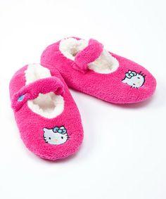 Look at this #zulilyfind! Pink & White Hello Kitty Slipper #zulilyfinds