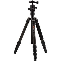"MeFOTO Road Trip Carbon Fiber Travel Tripod Kit, 61.61"" Max Height, 17.63 lbs, Black"