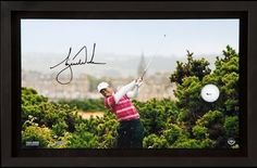"""TIGER WOODS Signed """"10th Tee Breaking Through"""" Framed Display UDA LE 250 - Game Day Legends"""