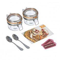 Kilner Dessert Jar Set, Gift set including jars, spoons and decorations. Create delicious puddings for two. Kilner Jars, Mason Jars, Dessert In A Jar, How To Make Jam, Köstliche Desserts, Measuring Spoons, Catering, Cooking Recipes, Entertaining