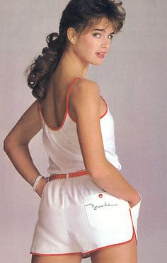 "Brooke Shields modeling ""The Brooke Look"" collection for McCall's Patterns, 1983."